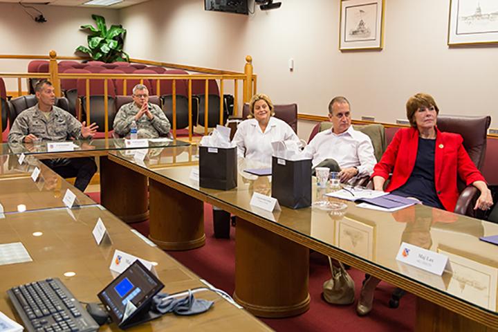 Congress members visit HARB, discuss F-35 potential