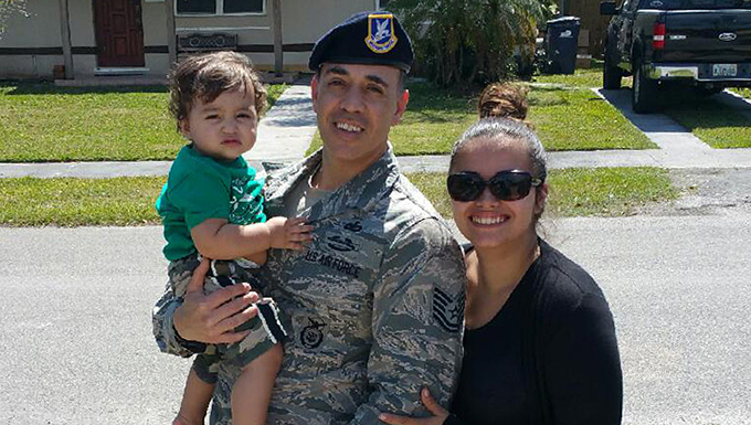 Security Forces Squadron member saves family